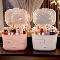 Storage Boxes & Bins Makeup Organizer Desktop Drawer Cosmetic Box Rack Jewelry Container Make Up Case Brush Holder