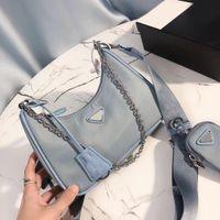 2021 أزياء المرأة حقيبة الكتف الصدر حزمة سلاسل حقائب عالية الجودة محفظة رسول مصمم أكياس تخزين مع صندوق