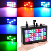 Effects KTV Flash Light Sound Control Coloured Waterfall Flashing LED Strobe Lamp Di Bar Stage Effect
