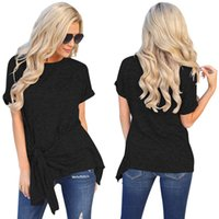 Hot style Spring Summer Time 2019 New Short Sleeve Polyester Personality Waist Style Women T-shirt Tops