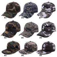 Camouflage Baseball Hut Mode Camouflage Baseballkappen Sommer Outdoor Sun Hüte Reisen Mode Party Hüte RRA4314
