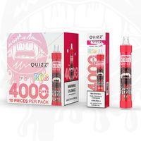 Quizz QD30 Artı Tek Kullanımlık E Sigara Kiti 650 mAh Pil 4000 Puffs 12 ml Pods Kartuş RGB Flaş Şarj Edilebilir Buharlaştırıcı Buhar% 100 Orijinal
