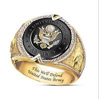 Викинг хип-хоп Классический индийский творческий мужской кольцо 18к золотой ретро роскошь изысканный парень день рождения рождественский подарок панк