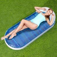 Gonfiabile galleggias tubi all'aperto prato all'aperto adulto gigante materassino da acqua gigante float lounge estate letto d'aria materasso nuoto divertente da spiaggia giocattoli da spiaggia