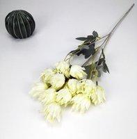 Fiori artificiali tessuto di seta festa di nozze casa fai da te decorazioni floreali di alta qualità grande bouquet artigianale falso fiore arredamento floreale ZZE5337