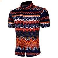 Lüks Elbise Basitlik Erkekler Giyim Kilitli Camisas De Hombre Moda Düğme Yukarı 2021 Tasarımcılar Erkek Polo Gömlek Kısa Kollu Tişört Homme Man Cardigan 9g141