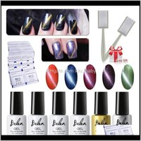 Wholesale Belen Uv Led Cat Eye 5Pcs Soak Off Magnetic And Top Base Coat 50 Remover Wrap Stick Phchm Nail Manicure Set Ewz7N