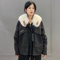 Women's Fur & Faux Natural Liner Real Collar Winter Warm Parka Women Jacket Loose Outwear Plus Size Custom