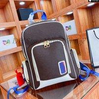 Edição Limitada Basquete Backpack Homens Saco De Esportes Monogramas Embossed Impresso Backpacks De Couro Green Green Sacos M45581 M57972