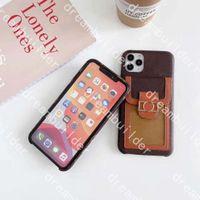 Casos de moda para iPhone 12 pro max mini 12mini 11 11PRO 11PROMAX X XS XR XSMAX 7 8 PLUS 7P 8P PU clássico couro telefone case designer titular do cartão com caixa