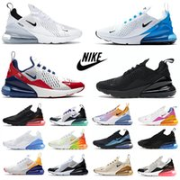 max 270 react shoes BAUHAUS white Blue React men running shoes OPTICAL triple black mens trainers breathable sports outdoor sneakers 40-45