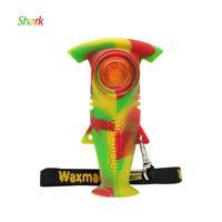Waxmaid Köpekbalığı Şekilli Sigara El Boru Tütün Silikon Mini Kuleleri ile 6 Karışık Renkler Hediye Kutusu Gemi CA Warehoue