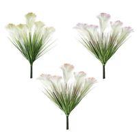 Fiori decorativi ghirlande piante artificiali impiante singola canna da cipolla setaria erba verde decorazioni per la casa elegante maniglia di nozze fiore