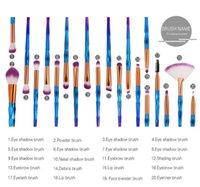 Eye Brush Set, 20 pcs Unicorn Eyeshadow Eyeliner Blending Crease Kit Makeup Brushes Make Up Foundation Eyebrow Eyeliners Blush Cosmetic Concealer-Brushes