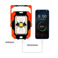 Solar Lamps Plastic Mini Floodlight Rectangle COB SMD5730 Hight Lumen Brightness Dimming LED Flashlight with USB Charger