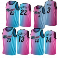 Jimmy 22 Butler Tyler 14 Herro 55 Dwyane 3 Wade Herren Basketball-Trikots 13 Adebayo 2021 Goran 7 Drachen Camisetas