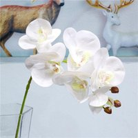 Silk Artificial Butterfly Orchid Flower Bouquet Phalaenopsis Fake Home Wedding Decoration DIY Crafts Decor Decorative Flowers & Wreaths