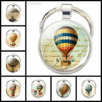 Keychains Vintage Air Balloon Po Key Chain Unique Design Jewelry Female Bag Men Car Rings Handmade Accessories Wholesale