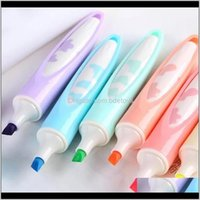 Highlighters Writing Supplies Office School Business & Industrial6Pcs Creative High Capacity 6Colors Highlighter Hand Aount Marker Ding Pen