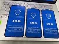 Para iPhone 13 Pro Max mini Protetor de tela 10D Capa Completa 9h Vidro Temperado Protetor de Tela de Fibra de Carbono para iPhone 12 Pro Max 7 8 Plus XS Max
