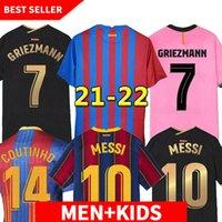 Versión de Jugador Jersey Barca 21 22 Ansu Fati 2021 2022 Messi Griezmann F.De Jong Maillots de Camiseta de Fútbol Hombres Kit Niños