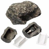 Casa chave de reposição ao ar livre Sacos de armazenamento seguro escondido esconder a caixa de pedra de rocha caixa nha6964