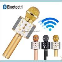 1Pcs Ws 858 Protable Wireless Microphone Professional Condenser Karaoke Mic Bluetooth Stand Radio Mikrofon Studio Recording Studio Lu9 Ijgfa