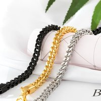 Men Chain Bracelet Stainless Steel Curb Cuban Link Chains Bangle for Male Women Hiphop Trendy Wrist Jewelry Gift