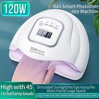Nail Art Kits Dryer Machine Home Use UV LED Gel Curing Lamp 120W Light Tools Motion Sensing Polish