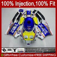 Injection pour Honda CBR 250R 250 CBR250 CCR 1990 1991 1992 1994 1994 96 97 99 99 111HC.12 MC22 250CC CBR250RR 90 91 92 93 94 95 1996 1997 1998 1999 Catériel Rothmans Bleu