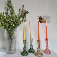 Держатели свечи 1 шт. Старинные хрустальные держатель украшения свадебный стол Cristal стенд канделябры