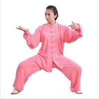 Stage Wear Slik Arti Marziali Set Donne Donne Cinese Uniforme Esercizio Morning Tai Chi Uniformi Wu Shu Martiall Arts At Abbigliamento Ala Ala Chun Tessuto di allenamento