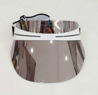 2021 Hot Designer Cappello Donna Cappello Sole TRASPARENTE PC DAZZLE Colore Gradiente Occhiali da sole Occhiali da sole Brand Hat Taglia regolabile 56-62cm