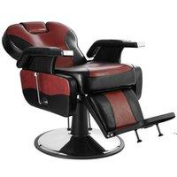WACO Hand Hydraulic Recline Tattoo Chair Salon Barber Hair Stylist Heavy Duty Shampoo Beauty Salon Equipment - Red&Black SEA WAYNHD10237