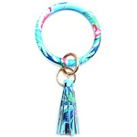 Car Keychain Bracelet Flower Skin Python Pu Tassel Trend Creative Key Chain Leopard Leather Christmas Gift Esyw805 EF36805