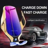 R9 Serrage automatique de voiture de serrage rapide 10W Chargeur sans fil de voiture pour iPhone Huawei Samsung QI Capteur infrarouge Porte-bouger