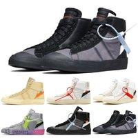 2021 Blazer di alta qualità a metà 77 Scarpe da corsa vintage per uomo Donne Black Bianco Bianco Alta Aiuto Allenamento Sneakers Dimensioni 36-44