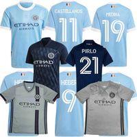 2021 2022 New York City FC Futbol Formaları Lampard Pirlo Medina Moralez MLS 20 21 22 Futbol Erkek ve Çocuk Gömlek