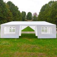 Ao ar livre 3 x 9m Dossel Party Party Barraca de casamento Tendas impermeáveis Piquenique Gazebo Pavilion Cater Eventos Oito Sidewall Duas portas