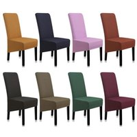 Chair Covers For Chairs Solid Color Dining Modern Stretch Cover Kitchen CH47008