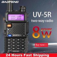 Walkie Talkie Baofeng UV-5R 8W High Powerful 10km VHF UHF Long Range Two Way Radio CB Ham Portable Pofung UV5R For Hunting
