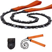Hand Tools 24Inch 63cm Gear Outdoor String Wire Saw Pocket Scroll Stainless Steel Rope Chain Saws Travel Camping Survival Tool