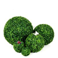 Decorative Flowers & Wreaths Artificial Plant Simulate Plastic Grass Ball Flower Boxed Party Wedding Home Decoration Wall Diy Material