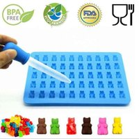 Baking Moulds 2021 Fashion Cake Tools Mold 1 Set 50 Cavity Silicone Gummy Bear Chocolate Candy Maker Ice Tray Jelly