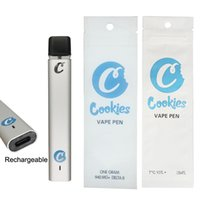 Cookies Disposable Vape Pens Empty 1ml Pods Visual Tank 240mAh Rechargeable Vapes Battery Ecigs Kits Thick Oil Delta 8 Vaporizer Pen with Delta-8 Packaging Bags
