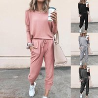 Womens Spring 2Pcs Tracksuits Set Sport Lounge Wear Ladies Casual Tops Pant Suit,Outwear for Jogging Gym Exercise A0604
