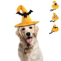 المعالج الأصفر قبعة هالوين القط ازياء العنكبوت الجمجمة الخفافيش الديكور الكلب القبعات مضحك الإبداعية كيتي القبعات
