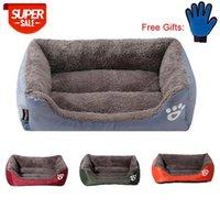 PAWING Pet Cat Dog Bed Caldo Casa per cani accogliente Casa per cani morbido Materiale animale domestico nido caldo nido Kennel per cucciolo di gatto con guanti regalo gratis # 3C9B