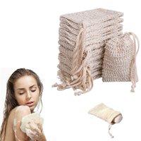 SOAP SUAL для душевых отходов Сохранить мыло Exholiator Gronge Pough Massage Натуральный волокна Пена из пены чистые сумки XBJK2105