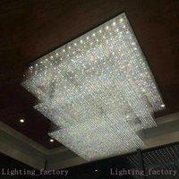 Design moderne Grand Cristal Lustre Lighting Hôtel AC110V 220V Lustre Cristal Kronleuchter LED Lampe de séjour